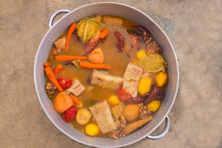 stew: Octopus stew from mediterranean traditional recipe in Alicante spain