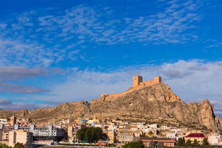 alicante: Alicante Sax village castle and skyline in Spain