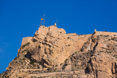 valencian: Alicante Santa Barbara castle in Mediterranean spain Valencian Community