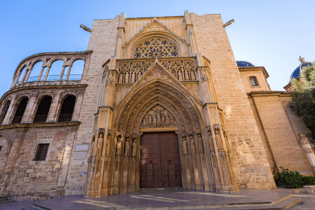 tribunal: Valencia Cathedral Apostoles door where Tribunal de las Aguas traditional court meets in Spain