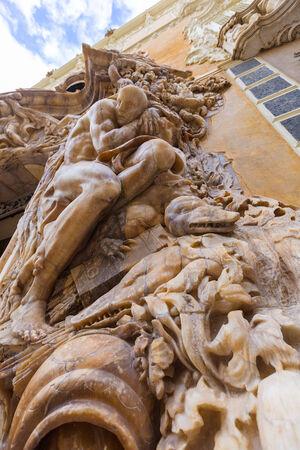 palacio: Valencia Palacio Marques de Dos Aguas palace facade in alabaster at Spain