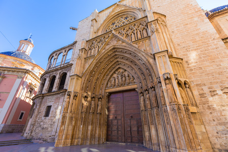 tribunal: Valencia Cathedral Apostoles door where Tribunal de las Aguas traditional court meets in Spain