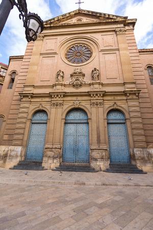 la compania: Valencia Jesuitas church near La Lonja in Spain at Plaza de la Compania Stock Photo