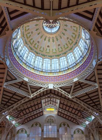 central market: Valencia Mercado Central c�pula mercados interiores detalle en Espa�a Editorial