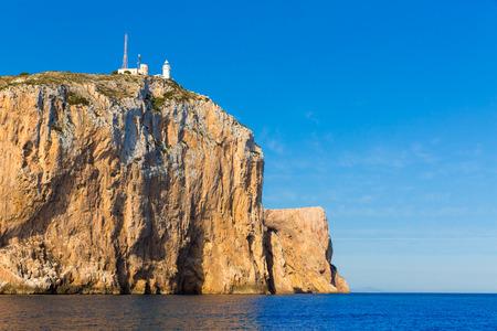 costa blanca: Cabo de San Antonio cape in Javea Denia Mediterranean sea of Spain