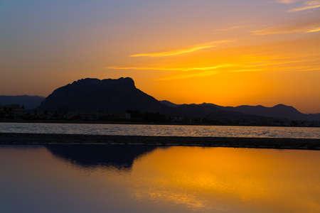 costa blanca: Denia Las sunset beach in Punta Molins at Alicante Mediterranean Spain
