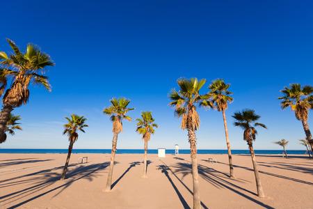 beaches of spain: Gandia playa nord beach in Valencia at Mediterranean Spain