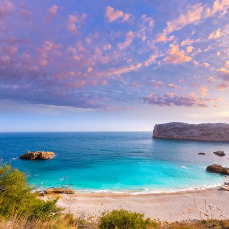 alicante: Javea Playa Ambolo beach Xabia in Mediterranean Alicante Spain