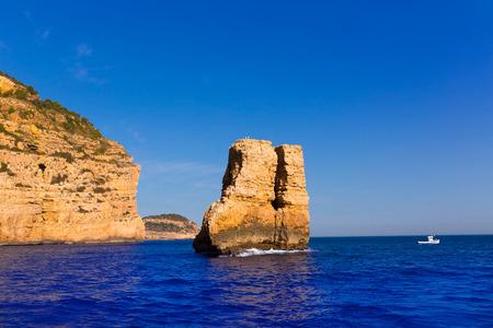 costa blanca: Javea Xabia Piedra la Nao in Mediterranean Alicante at Spain Stock Photo