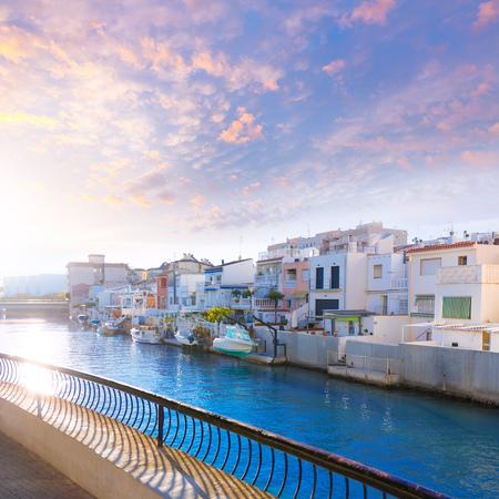 moored: Gandia port puerto Valencia in sunset Mediterranean Spain