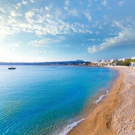 costa blanca: Javea Xabia Playa La Grava beach in Alicante mediterranean Spain