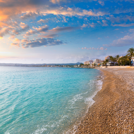 playa blanca: Javea Xabia Playa La Grava beach in Alicante mediterranean Spain