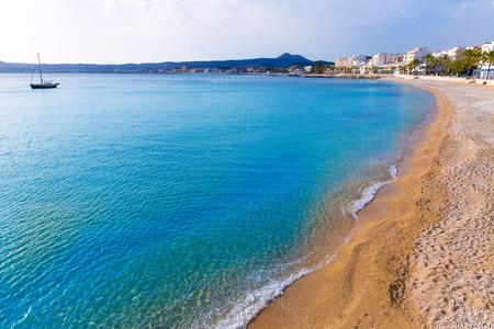 alicante: Javea Xabia Playa La Grava beach in Alicante mediterranean Spain