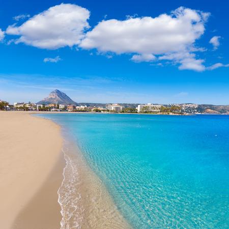 costa blanca: Javea playa del Arenal beach in Mediterranean Alicante at Xabia Spain