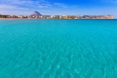 playa blanca: Javea playa del Arenal beach in Mediterranean Alicante at Xabia Spain