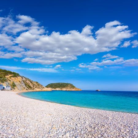costa blanca: Javea Xabia Playa la Barraca Cala Portichol in Alicante at Mediterranean Spain