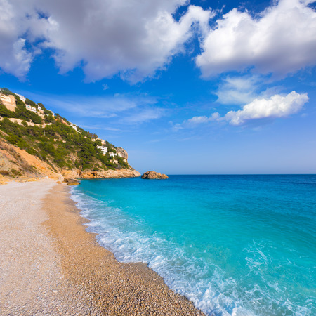 costa blanca: Javea Playa Ambolo beach Xabia in Mediterranean Alicante Spain