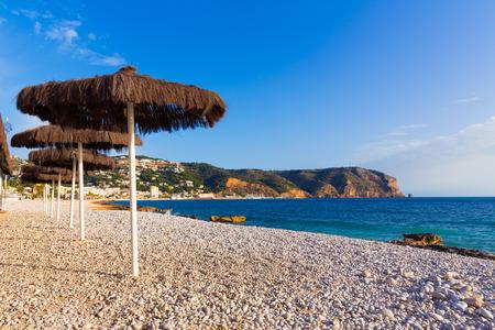 costa blanca: Javea Xabia playa Benissero beach Muntanyar in Alicante at Mediterranean spain