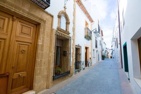 costa blanca: Javea Xabia old town Mediterranean streets in Alicante Spain