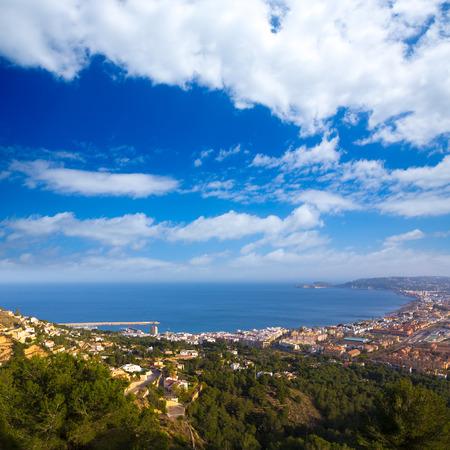 costa blanca: Javea Xabia aerial skyline from Molins in Alicante Mediterranean Spain