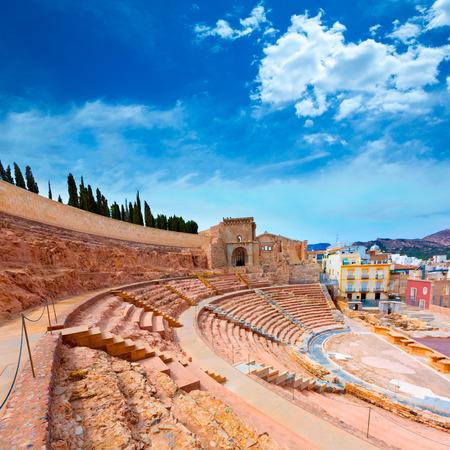 amphitheater: Cartagena Roman Amphitheater in Murcia at Spain