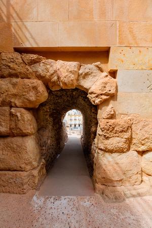 roman amphitheatre: Anfiteatro Romano de Cartagena corredor en Murcia Espa�a