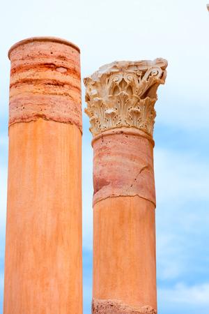 roman amphitheatre: Columnas antiguas en Cartagena Anfiteatro romano en Murcia Espa�a Foto de archivo