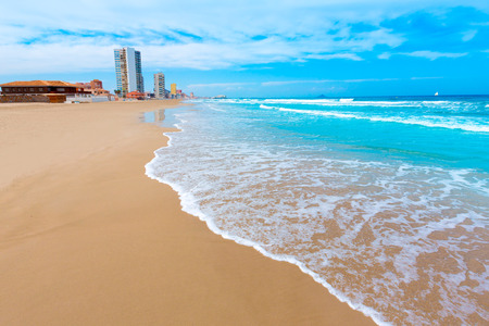 La Manga del Mar Menor beach in Murcia Spain Playa Barco Perdido at Mediterranean