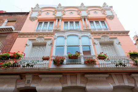 modernist: Cartagena modernist buildings downtown in Murcia Spain