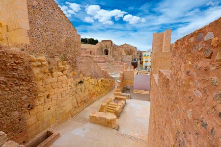 roman amphitheatre: Anfiteatro romano de Cartagena en Murcia en Espa�a