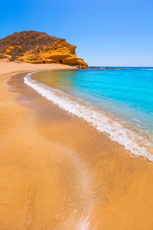 tourquoise: Cocedores beach in Murcia near Aguilas at Mediterranean sea of spain Stock Photo