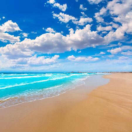 perdido: La Manga del Mar Menor beach in Murcia Spain Playa Barco Perdido at Mediterranean