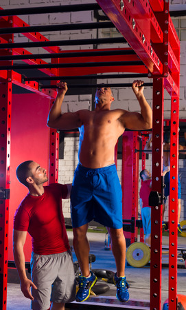 pullups: Toes to bar man pull-ups personal trainer 2 bars workout