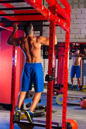 vertical bars: Toes to bar back man pull-ups 2 bars workout