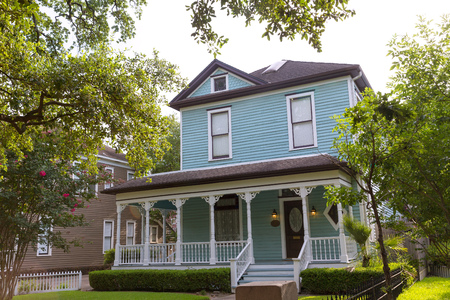 in the heights: Houston Heights Blvd townhouses in Texas US USA