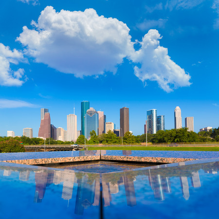 state park: Houston skyline and Memorial reflection Texas USA US