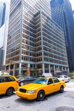 Avenue of the Americas 6th Av Manhattan yellow cabs New York city US