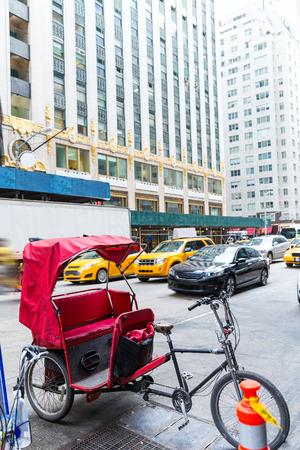 the americas: Avenue of Americas 6th Av new york rickshaw bike Manhattan