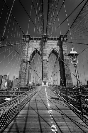 Brooklyn Bridge and Manhattan New York City US USA