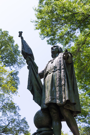 christopher columbus: Central Park Christopher Columbus statue Manhattan New York US