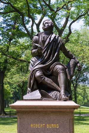 robert: Central Park Robert Burns statue Manhattan New York US