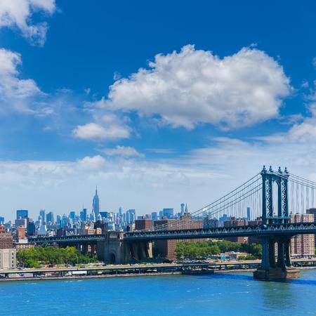 sights: Manhattan Bridge from Brooklyn New York City US Stock Photo