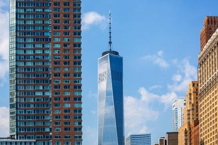 freedom tower: Lower Manhattan with new skyline Freedom Tower New York NYC US