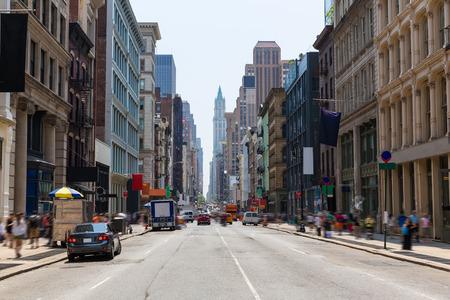 Soho Gebäude Fassade in Manhattan New York City NYC USA Standard-Bild - 35447582