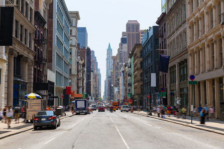 Soho Gebäude Fassade in Manhattan New York City NYC USA Lizenzfreie Bilder