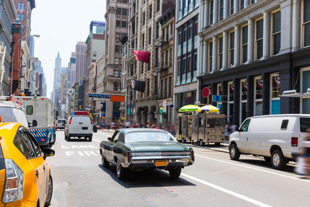 Soho street traffic in Manhattan New York City NYC USA Stock Photo