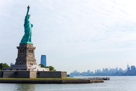 Vrijheidsbeeld New York Manhattan achtergrond VS VS