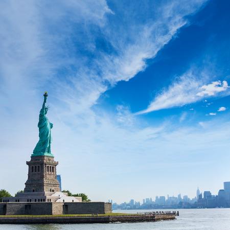 Statue of Liberty New York Manhattan background USA US
