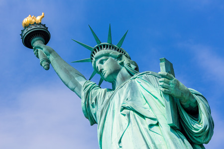 Statue of Liberty New York American Symbol USA US 写真素材