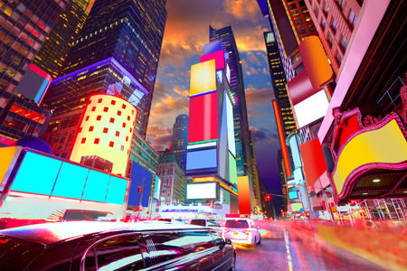 cuadrados: Times Square de Manhattan de Nueva York todos los anuncios eliminan EE.UU.